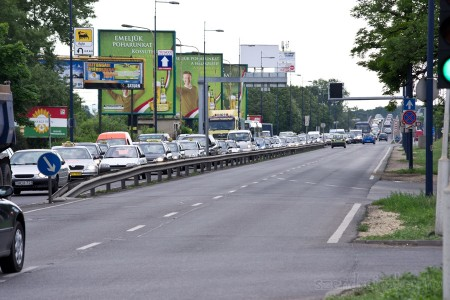Ferihegy 1-es terminál bezárása - demonstráció miatt kialakult dugó - Szendrei Gábor