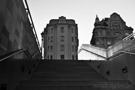 Budapest Fővám tér lépcső - Szendrei Gábor