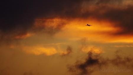 Naplemente és felhők játéka + Cargolux LX-VCB 747-8R7F - Szendrei Gábor