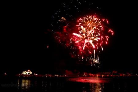 Víz, zene, virág fesztivál Tatán képek - Tűzijáték - Szendrei Gábor