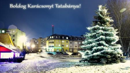 Karácsonyi képeslap Tatabányáról - fotó: Szendrei Gábor