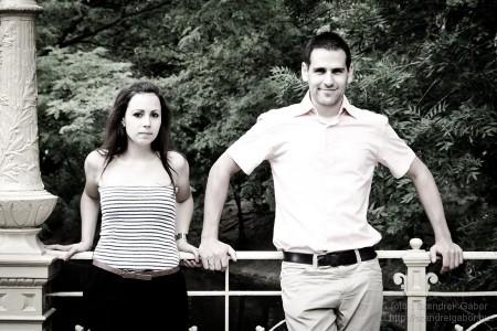 Andi és Attila jegyespár fotózása - fotó: Szendrei Gábor