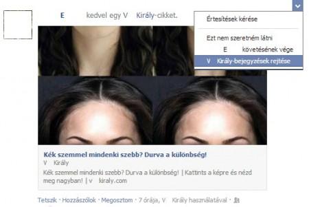 Kéretlen bejegyzések eltüntetése a facebook hírfolyamból - Szendrei Gábor