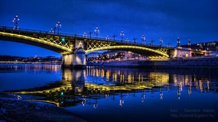 Margit híd este / Margaret  bridge at night (Budapest)  - fotó: Szendrei Gábor