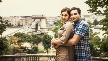 Timi és Robi jegyespár fotózása Budapesten - fotó: Szendrei Gábor