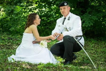 2014.06.07. Enikő és Robi Katonai Esküvője Tatabányán - fotó: Szendrei Gábor