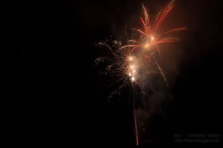 Tatabányai Bányásznap Tűzijáték 2014 - fotó: Szendrei Gábor