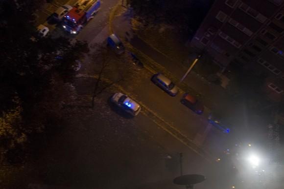 2015.10.29. Tűz a Mézeskalács téren hajnalban - fotó: Szendrei Gábor