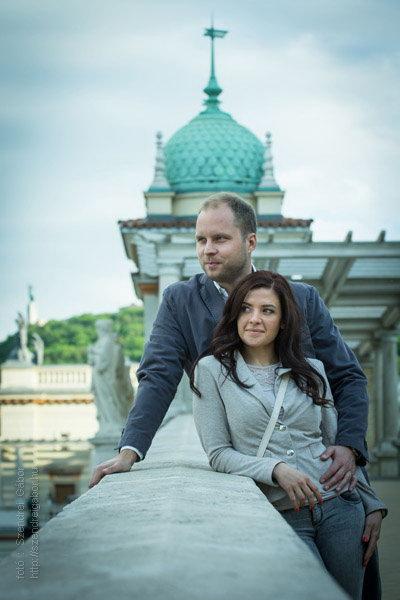 Veronika és Ádám jegyespár fotózása Budapesten - fotó: Szendrei Gábor